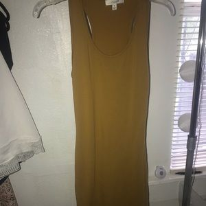 Mustard yellow bodycon